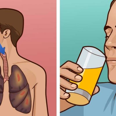 Add this to a glass of orange juice to flush nicotine out of your body and help you heal