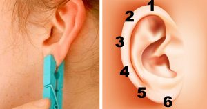 Place a clothespin on your ear for 5 seconds. The unexpected effect will surprise you